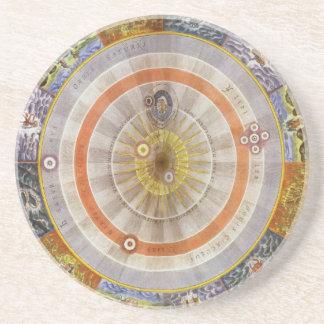 Planisferio Copernican celestial de la astronomía Posavasos Cerveza
