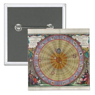 Planisferio del vintage del universo entero de Cop Pin Cuadrada 5 Cm