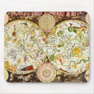 Planisphæri Cœleste 1698 - Astrology Chart Mouse Pad
