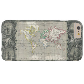 Planisphere 1847 Victor Levasseur Map of the World Barely There iPhone 6 Plus Case