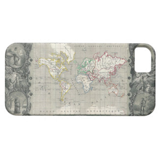 Planisphere 1847 Victor Levasseur Map of the World iPhone SE/5/5s Case