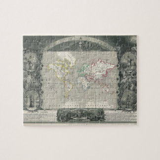 Planisphere 1847 Victor Levasseur Map of the World Jigsaw Puzzle