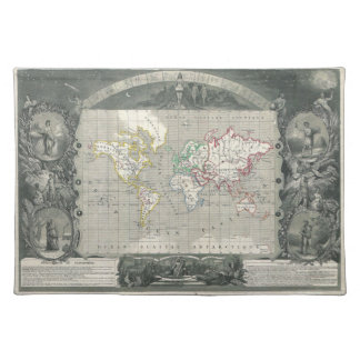 Planisphere 1847 Victor Levasseur Map of the World Placemat