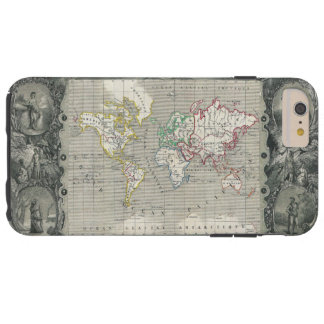 Planisphere 1847 Victor Levasseur Map of the World Tough iPhone 6 Plus Case