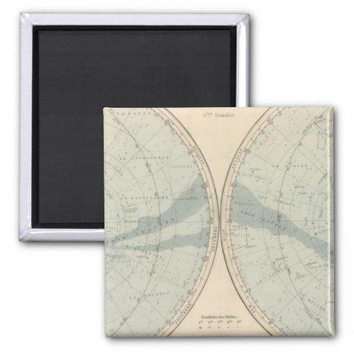 Planisphere Celeste Hemisphere 2 Inch Square Magnet