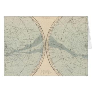 Planisphere Celeste Hemisphere Greeting Card