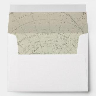 Planisphere Celeste Hemisphere Envelope