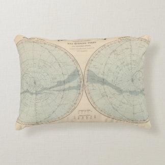 Planisphere Celeste Hemisphere Accent Pillow
