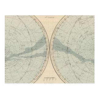 Planisphere Celeste Hemisphere Postcards