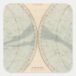 Planisphere Celeste Hemisphere Square Sticker