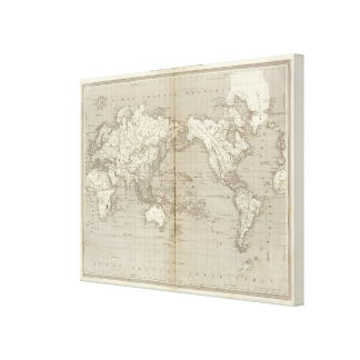 Planisphere diagram of solar system canvas print