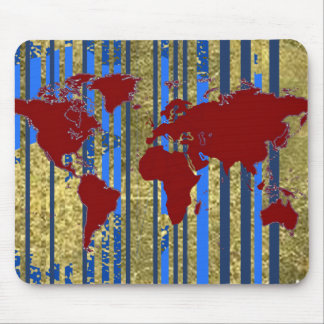 Planisphere-World Map Mouse Pad