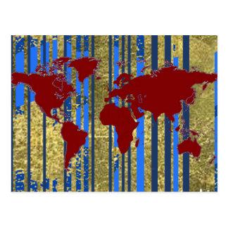 Planisphere-World Map Postcard
