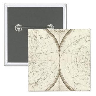 Planispheres celestes - Celestial Pinback Buttons