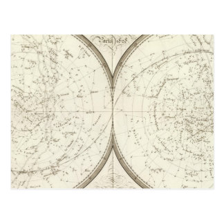 Planispheres celestes - Celestial Postcard