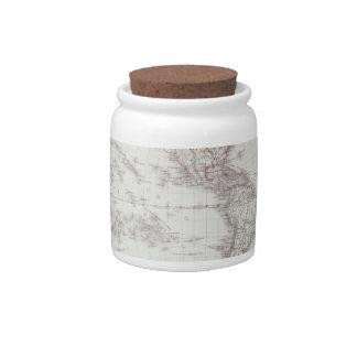 Planispheric Map Candy Jar