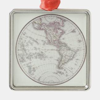 Planispheric Map Metal Ornament