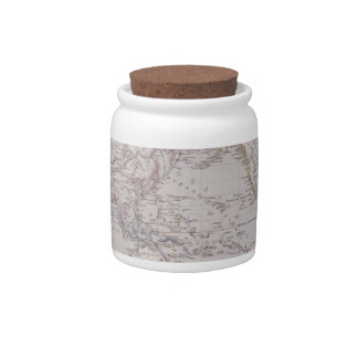 Planispheric Map of the World Candy Jars