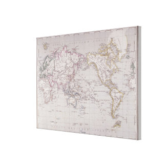 Planispheric Map of the World Canvas Print