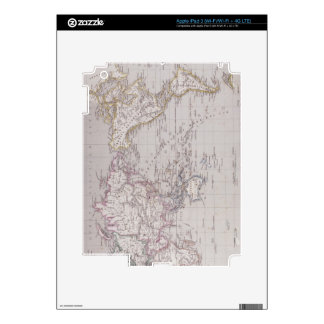 Planispheric Map of the World iPad 3 Decals