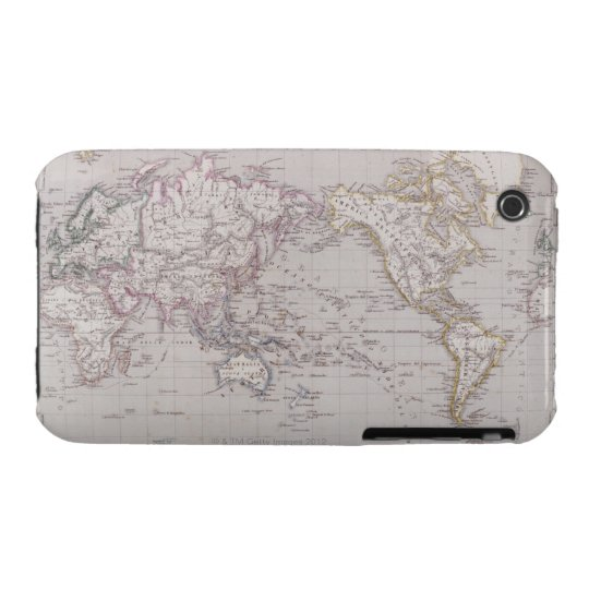Planispheric Map of the World iPhone 3 Case
