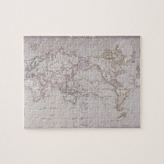 Planispheric Map of the World Jigsaw Puzzle