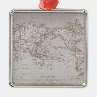 Planispheric Map of the World Metal Ornament