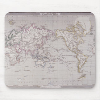 Planispheric Map of the World Mouse Pad
