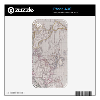 Planispheric Map of the World Skins For The iPhone 4