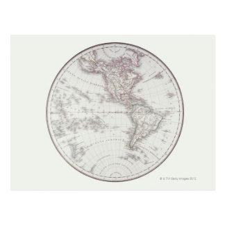 Planispheric Map Postcard