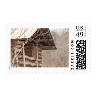 Plank and Log - Window Detail Postage