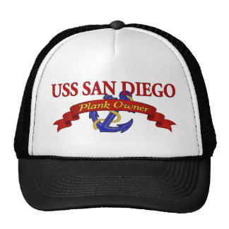 Plank Owner USS San Diego Hats