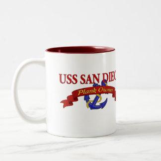 Plank Owner USS San Diego Mug