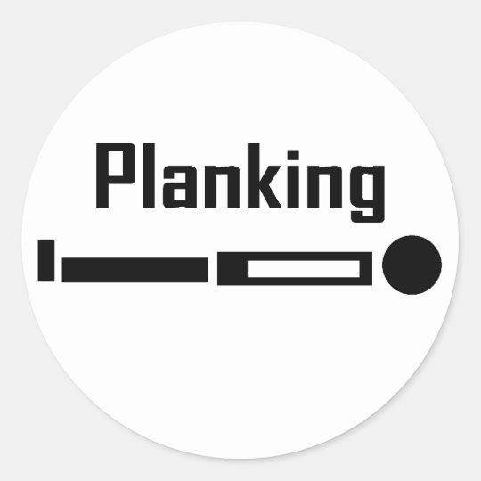 Planking Classic Round Sticker