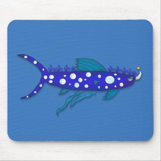 Plankton shark cartoon mouse pads