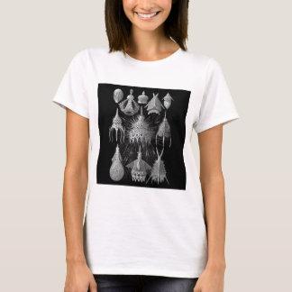Plankton Shells in Black and White (Cyrtoidea) T-Shirt