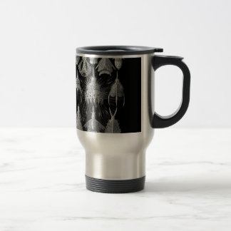 Plankton Shells in Black and White (Cyrtoidea) Travel Mug