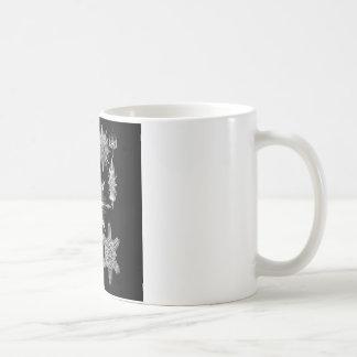 Plankton Skeletons in Black and White Coffee Mug