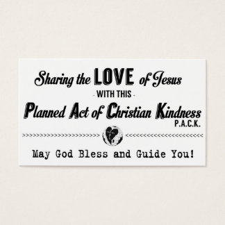 Planned Act of Christian Kindness (P.A.C.K.) Card