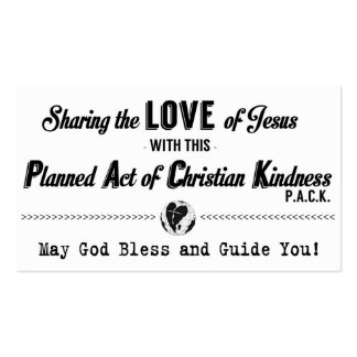 Planned Act of Christian Kindness (P.A.C.K.) Card Double-Sided Standard Business Cards (Pack Of 100)
