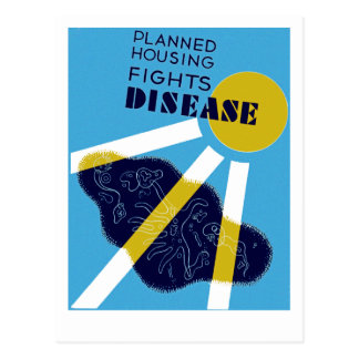 Planned Housing Fights Disease Postcard