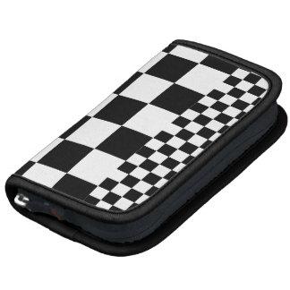 Planner, Black and White Checker Design Organizer