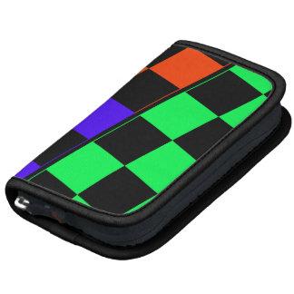 Planner, Black, Green, Blue, Red Asymmetric Tiles Organizers