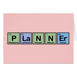 Planner Greeting Card