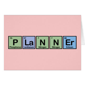 Planner made of Elements Greeting Cards