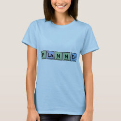 Women's Basic T-Shirt with Planner design