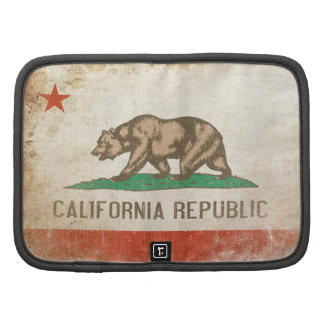 Planner with Distressed California Republic Flag