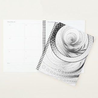 Planner with Enso, a Perfect Zen Fractal Circle