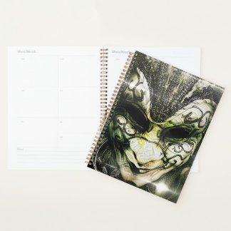 Planner with Fractal DeepDreams of a Venetian Mask
