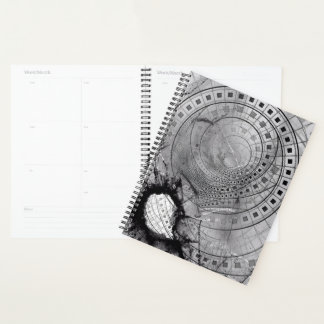 Planner with Gunpowder Blasts and Shattered Glass